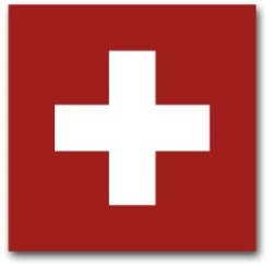 Schweizer Flagge, weißes Kreuz auf rotem Grundd