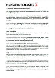 Zeugnisgutachten Seite 2 - schwarzer Text auf weißer Seite, oben links Logo von