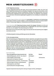 Zeugnisgutachten Seite 3 - schwarzer Text auf weißer Seite, oben links Logo von
