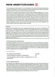 Zeugnisgutachten Seite 4- schwarzer Text auf weißer Seite, oben links Logo von